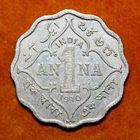 KM# 504 - One Anna - 1 Anna - Edward VII - India 1910B (F)