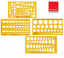Isomars Technical Drawing Templates Set of 4 ,With free shipping