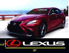 """LEXUS 36"""" Windshield Banner Decal Vinyl Sticker IS GS ES LS RX COUPE SPORT"""