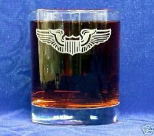 US Air Force etched Pilot Wings Old Fashion set of 4
