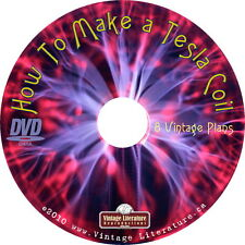 How To Make a Tesla Coil { Vintage Plans ~ Science Projects } on DVD