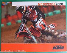 KTM MOTOCROSS 2006 85SX 125SX 250SX 450SX 525SX RACING I CATALOGO BROCHURE