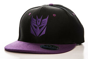 Officially Licensed Decepticon Embroidered Adjustable Size Snapback Cap