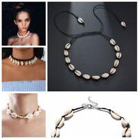 Stylish Beach Bohemian Sea Shell Pendant Chain Choker Necklace Fashion Jewelry