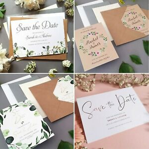 Save the date Cards, Wedding Change of Date or Save the Dates with Envelopes