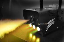 YELOW LED WIRELESS SMOKE / FOG MACHINE 400W DJ DISCO LASER LIGHT CLUB FOGGER PUB