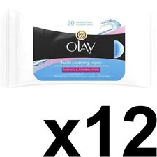 3 X Olay Essentials Facial Cleansing for Normal and Combination Skin 20 Wipes