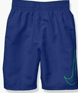 Nike Swim Boys' Big Swoosh Solid Lap Volley Short Swim Trunk Royal Green Medium