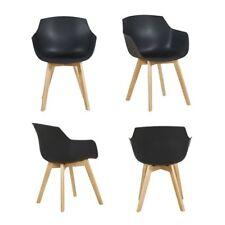 EGGREE 4er Set Esszimmerstühle Skandinavisch Sessel für Büro Küche Wohnzimmer