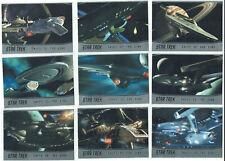 Star Trek 50th Anniversary 2017 Complete 9 Card Ships of the Line Set SL19-SL27