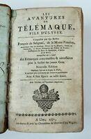 LIVRE LES AVENTURES DE TELEMAQUE FILS D ULYSSE DE SALIGNAC FENELON 1771 H3009