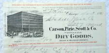 1896 BILLHEAD CHICAGO CARSON PIRIE SCOTT & CO DRY GOODS ISDELL PONY MT #B7M