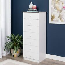 Lingerie Dresser With Drawers White Storage Chest Bedroom Tall Cabinet Organizer
