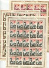 1951 San Marino minifoglio Croce Rossa 25 esemplari raro e spl MNH **
