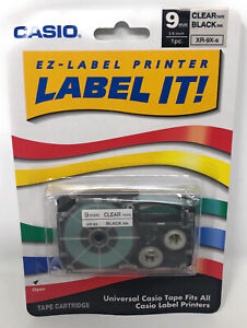 Casio XR-9X-s EZ-Label Printer for All Casio Black on Clear Label Makers