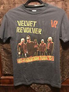 VELVET REVOLVER ~ Small ~ 2007 Re-Evolution Tour ~ Scott Weiland SLASH  T Shirt