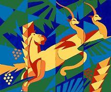 TABLEAU ART DECO : AFRICA