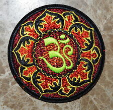 "Lotus 3"" tao taoism peace trance boho hippie yoga applique iron on patch"