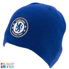 CHELSEA FC FOOTBALL SOCCER CLUB TEAM KNITTED BLUE BEANIE CAP HAT WINTER WARM NEW