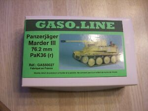 NIB VINTAGE GASO.LINE PANZERJAGER MARDER III 76.2mm PaK36 (r) - MADE IN FRANCE