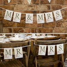 """""""Mr & Mrs'S Bunting-Matrimonio Banner/da appendere decorazione parete/Sedia-gamma in negozio!"""