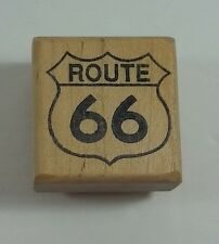 Route 66 Rubber Stamp by Gray Wolf Graphics