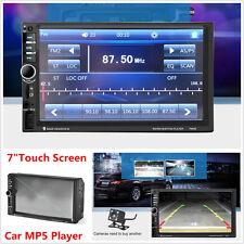 "7"" Touch Screen 2DIN Bluetooth Car In-Dash Stereo FM Radio MP5 Player+ HD Camera"