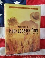 NEW Huckleberry Finn by Mark Twain Deluxe Hardcover Classics with Dustjacket