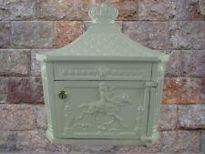 Wand Briefkasten weiß historische Post Letterbox Wohnen Vintage für Haus & Hof