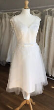 Bridal Gown/Wedding dress, Short Tea Length,Lace/Tulle, Size 16UK Brand New