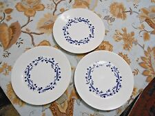Royal Doulton Fable Plate Navy Blue Berry Floral Garland Lot of 3 8.75 inch