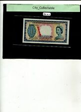 MALAYSIA 1953 QE 2 MALAYA & BRITISH BORNEO $1 A/48 164118 MINOR ERROR UNC# BK402