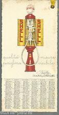 BELLISSIMO ANTICO SEGNALIBRO_CALENDARIETTO PUBBLICITARIO SHELL_DUDOVICH_1931