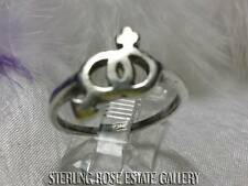 "TOGETHER VINTAGE 1/2"" MALE and FEMALE SIGN Sterling Silver Estate RING size 7.5"