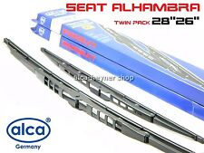 SEAT ALHAMBRA 1995-2001 genuine windscreen WIPER BLADES 28''26'' !!! HOOK ARM