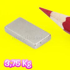 4 CALAMITE magneti 20x10x3 mm magnete calamita NEODIMIO - Attrazione: 3,75 Kg