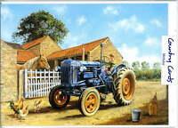 FORDSON IN FARMYARD TRACTOR  BIRTHDAY  CARD