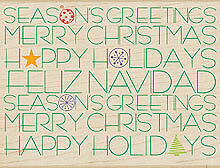 "HERO ARTS ""HOLIDAY MESSAGES BACKGROUND"" RUBBER STAMP"