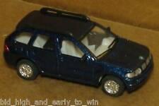 BLUE METAL FLAKE BMW X5 1/72 SCALE DIE CAST NICE & NEW