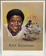 1969 Kroger Premium Artist Print Card Buck Buchanan Kansas City Chiefs Football
