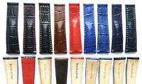 22mm Genuine Leather Watch Band Strap replacement for TAG HEUER