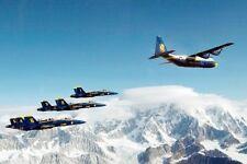 Blue Angels & Marine Corps C-130 Hercules 8x12 Silber Halogen Fotodruck