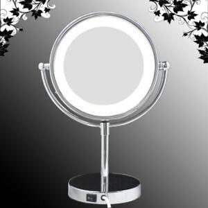 LUXUS LED Beleuchtet Kosmetikspiegel Nomal+5Fach, WEC-5