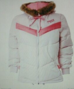 Adidas Women's Pink / Blue Originals Winter Jacket UK Size M -  NEW