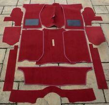TRIUMPH Spitfire MK1-MK2-MK3-MK4 - 1500 Nuovo Set Tappeto Rosso + KIT BASE DI FELTRO
