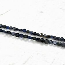 """13"""" Strand Wholesale Natural Iolite Coin Beads 5-6mm CBD-114"""