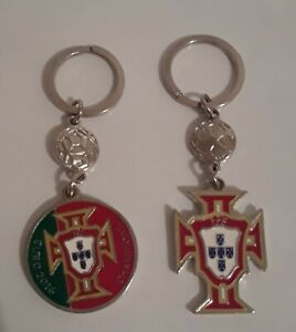 2 PORTUGAL  KEYCHAINS  - PORTUGUESE SOCCER FEDERATION