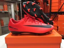Nike Men's Mercurial Vapor XI FG Cleats (University Red/Black) Size: 13 NEW!