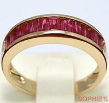 Ruby Yellow Gold 18k Wedding & Anniversary Bands