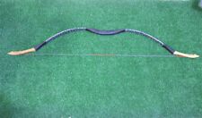 40lb Handmade Blue Leopard Recurve Bow Mongolian Longbow For Archery Hunting Use
